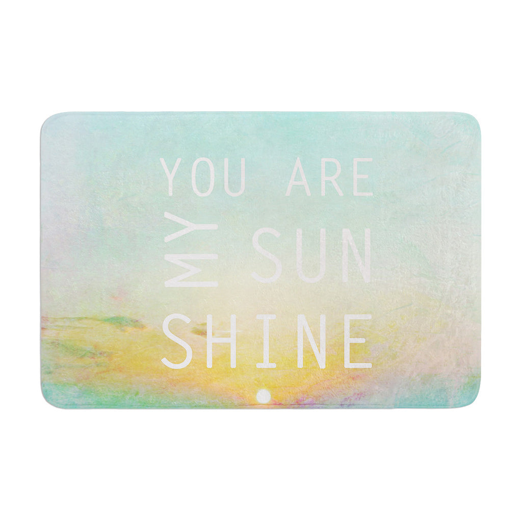 "Alison Coxon ""You Are My Sunshine"" Memory Foam Bath Mat - KESS InHouse"