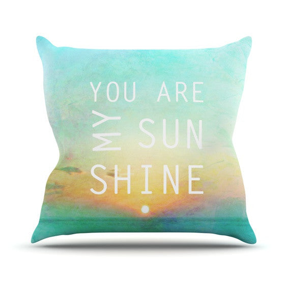 "Alison Coxon ""You Are My Sunshine"" Outdoor Throw Pillow - KESS InHouse  - 1"