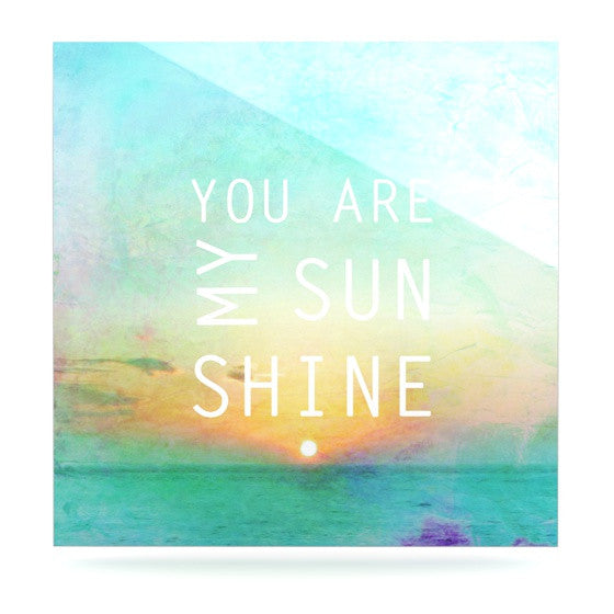 "Alison Coxon ""You Are My Sunshine"" Luxe Square Panel - KESS InHouse  - 1"