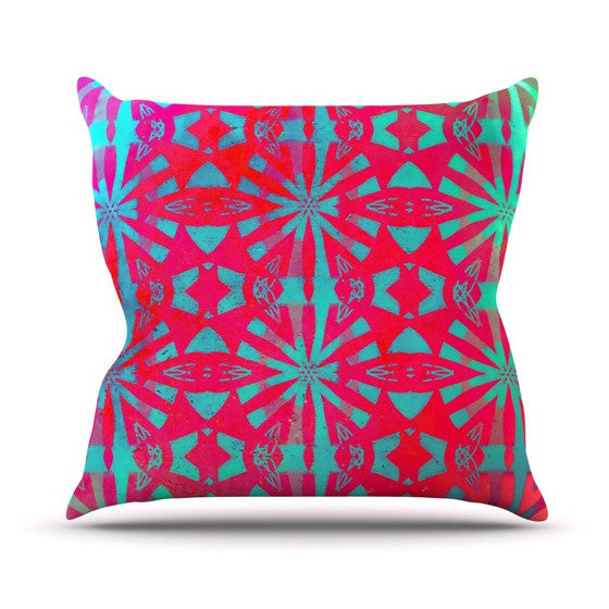 "Alison Coxon ""Aloha"" Outdoor Throw Pillow - KESS InHouse  - 1"
