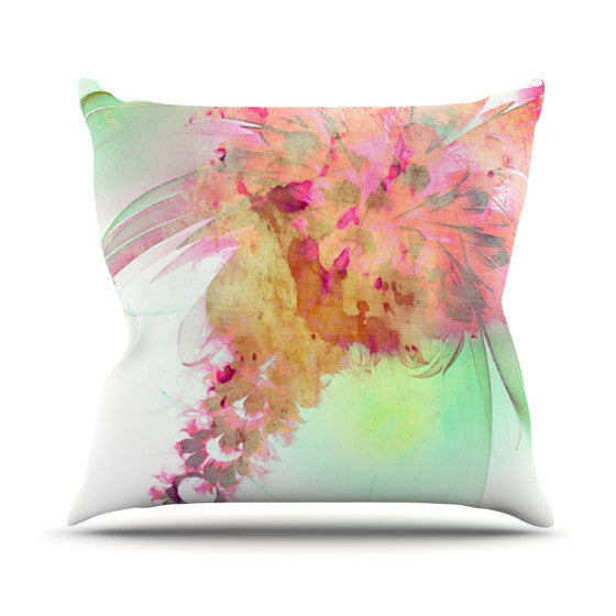 "Alison Coxon ""Lily"" Outdoor Throw Pillow - KESS InHouse  - 1"