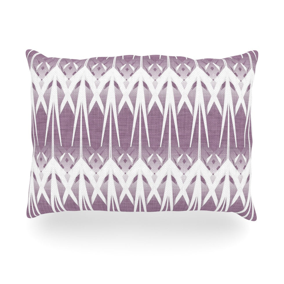 "Alison Coxon ""Arrow Lavender"" Oblong Pillow - KESS InHouse"
