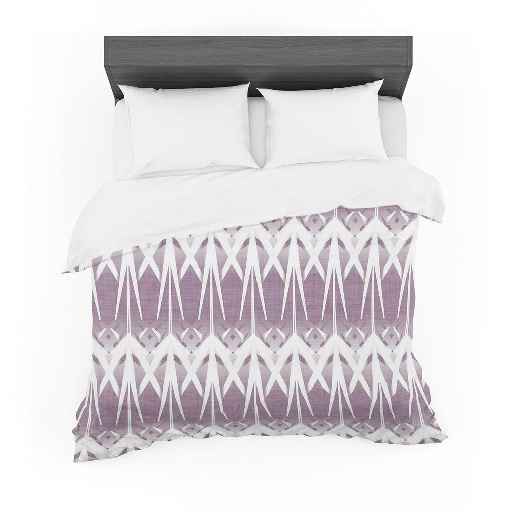 "Alison Coxon ""Arrow Lavender"" Featherweight Duvet Cover"