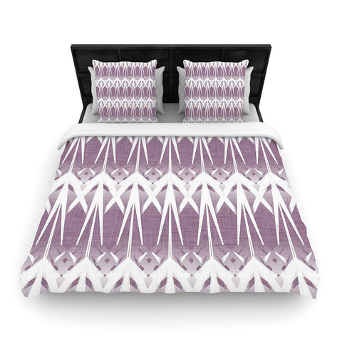 "Alison Coxon ""Arrow Lavender""  Woven Duvet Cover - Outlet Item"