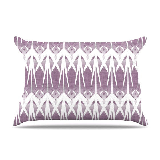 "Alison Coxon ""Arrow Lavender"" Pillow Sham - KESS InHouse  - 1"
