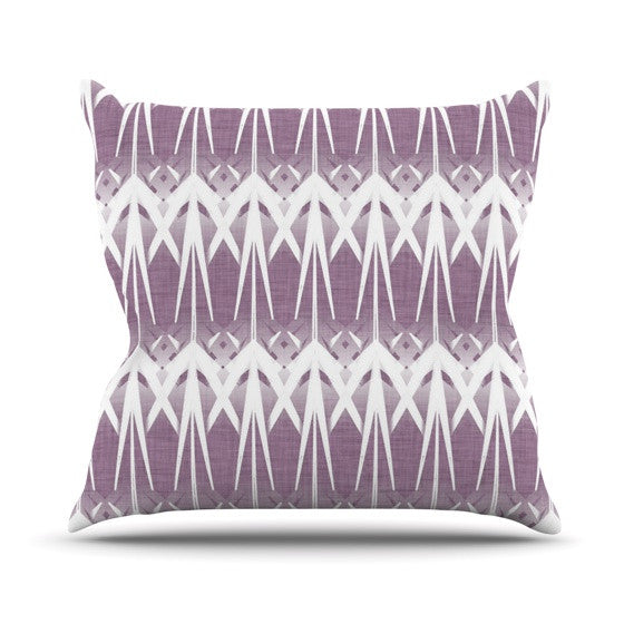 "Alison Coxon ""Arrow Lavender"" Throw Pillow - KESS InHouse  - 1"