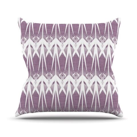 "Alison Coxon ""Arrow Lavender"" Outdoor Throw Pillow - KESS InHouse  - 1"