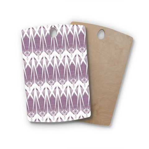 "Alison Coxon ""Arrow Lavender"" Rectangle Wooden Cutting Board"