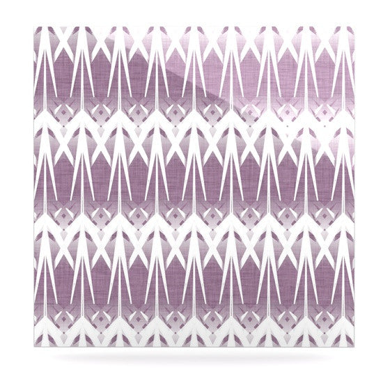 "Alison Coxon ""Arrow Lavender"" Luxe Square Panel - KESS InHouse  - 1"