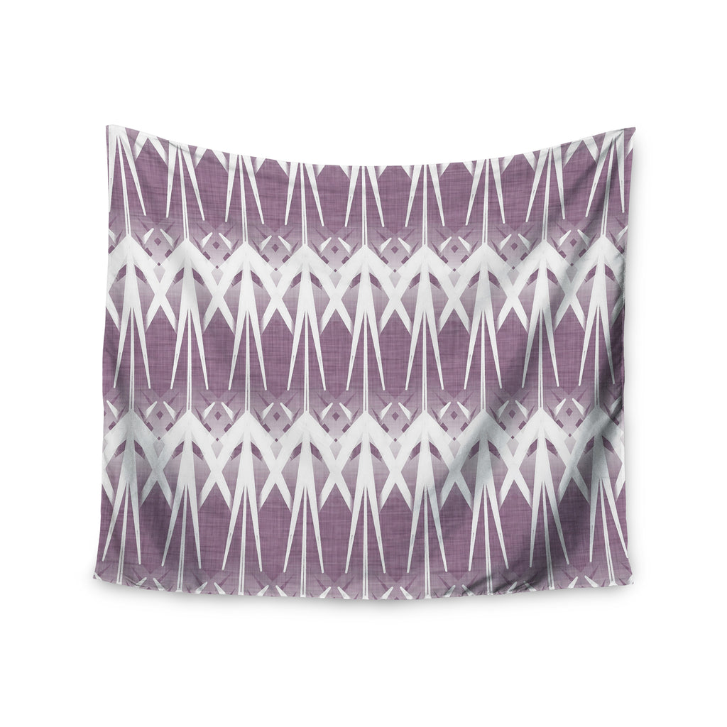 "Alison Coxon ""Arrow Lavender"" Wall Tapestry - KESS InHouse  - 1"