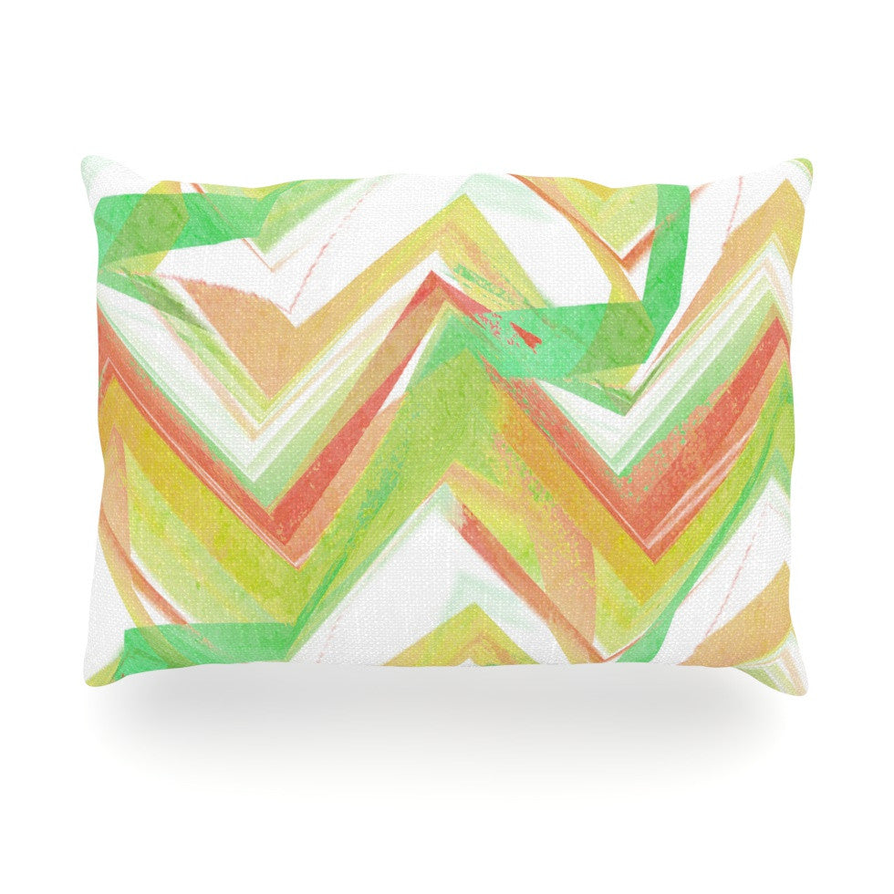 "Alison Coxon ""Summer Party Chevron"" Oblong Pillow - KESS InHouse"