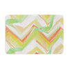 "Alison Coxon ""Summer Party Chevron"" Memory Foam Bath Mat - KESS InHouse"