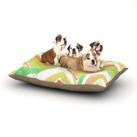 "Alison Coxon ""Summer Party Chevron"" Dog Bed - KESS InHouse  - 1"