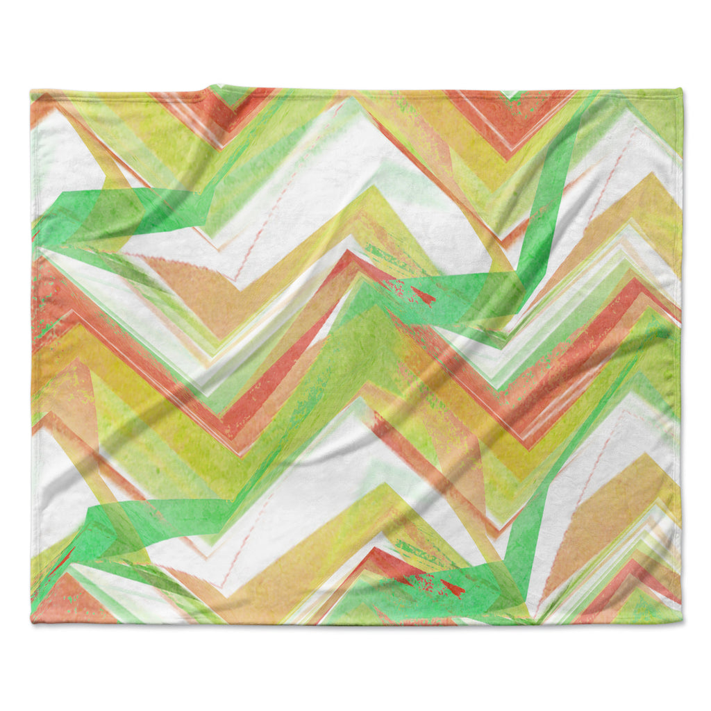 "Alison Coxon ""Summer Party Chevron"" Fleece Throw Blanket"