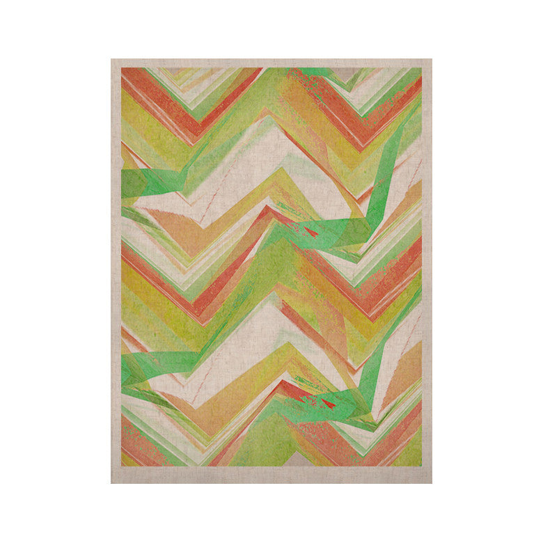 "Alison Coxon ""Summer Party Chevron"" KESS Naturals Canvas (Frame not Included) - KESS InHouse  - 1"
