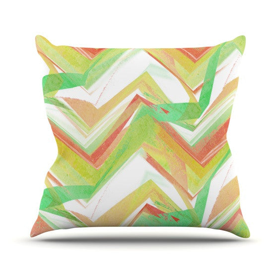 "Alison Coxon ""Summer Party Chevron"" Outdoor Throw Pillow - KESS InHouse  - 1"