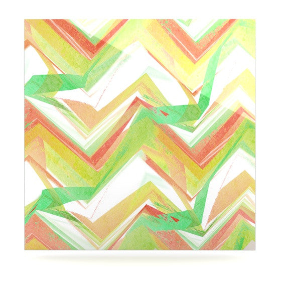 "Alison Coxon ""Summer Party Chevron"" Luxe Square Panel - KESS InHouse  - 1"