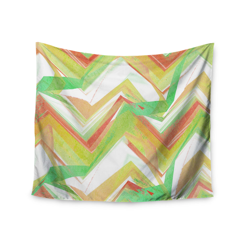 "Alison Coxon ""Summer Party Chevron"" Wall Tapestry - KESS InHouse  - 1"