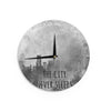 "Alison Coxon ""The City Never Sleeps"" Wall Clock - KESS InHouse"
