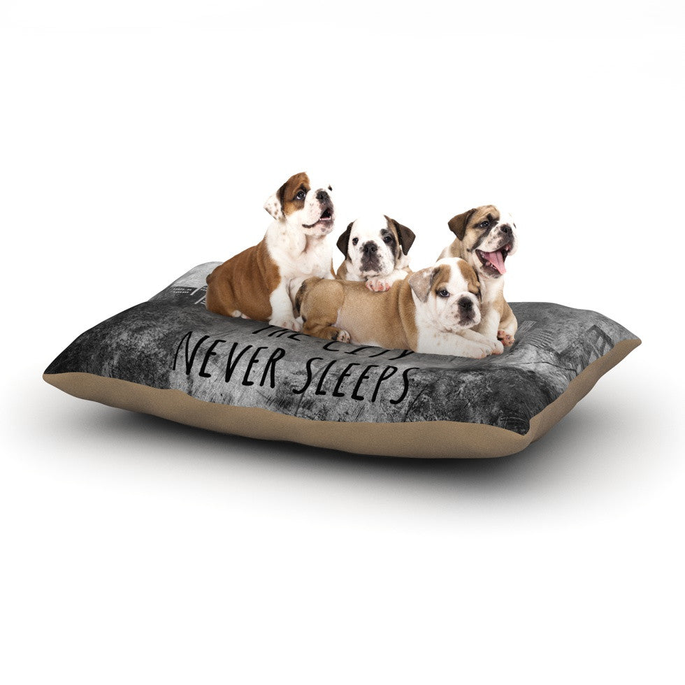 "Alison Coxon ""The City Never Sleeps"" Dog Bed - KESS InHouse  - 1"
