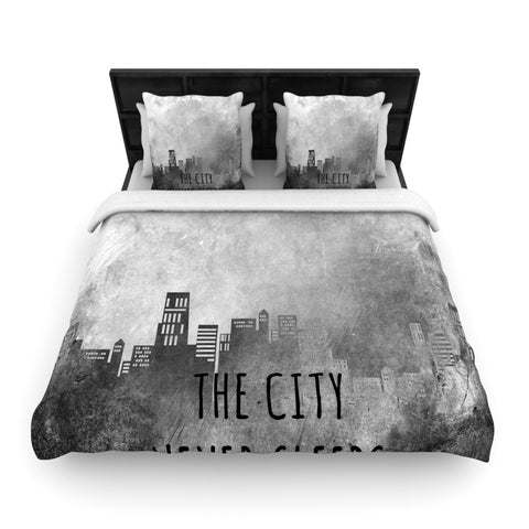 "Alison Coxon ""The City Never Sleeps""  Woven Duvet Cover - Outlet Item"
