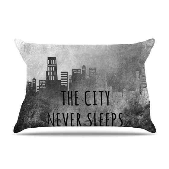 "Alison Coxon ""The City Never Sleeps"" Pillow Sham - KESS InHouse"