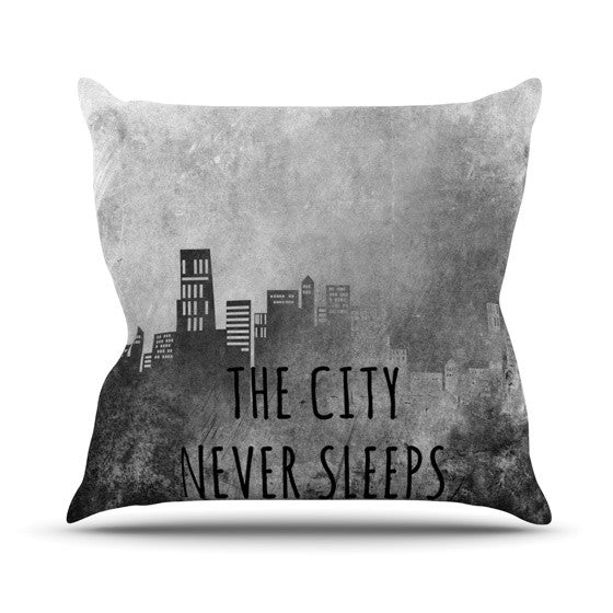 "Alison Coxon ""The City Never Sleeps"" Throw Pillow - KESS InHouse  - 1"