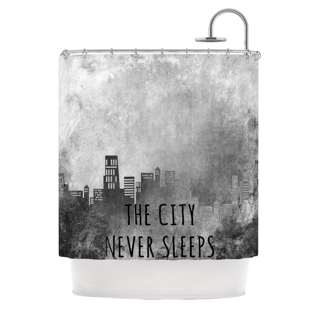 "Alison Coxon ""The City Never Sleeps"" Shower Curtain - KESS InHouse"