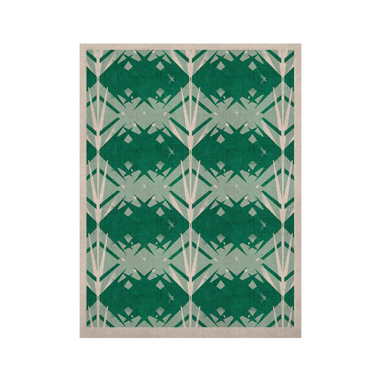 "Alison Coxon ""Diamond"" Teal White KESS Naturals Canvas (Frame not Included) - KESS InHouse  - 1"