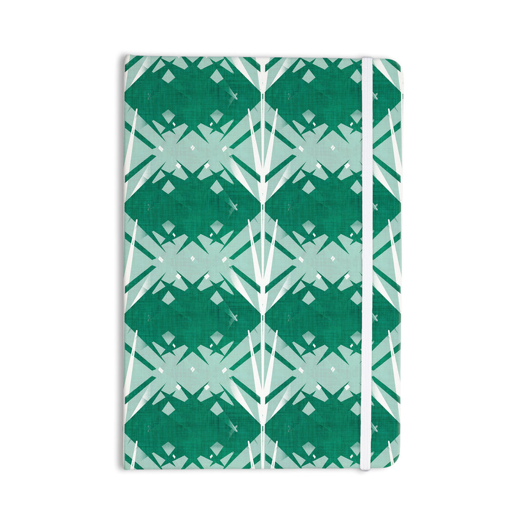 "Alison Coxon ""Diamond"" Teal White Everything Notebook - KESS InHouse  - 1"