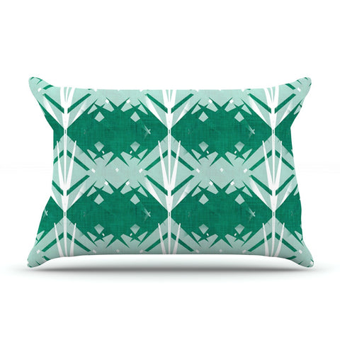 "Alison Coxon ""Diamond"" Teal White Pillow Sham - KESS InHouse  - 1"