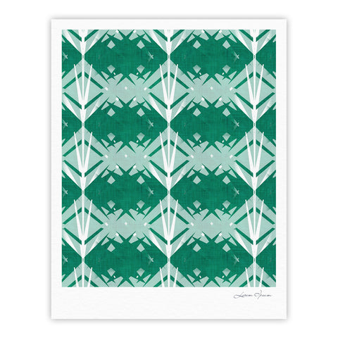 "Alison Coxon ""Diamond"" Teal White Fine Art Gallery Print - KESS InHouse"