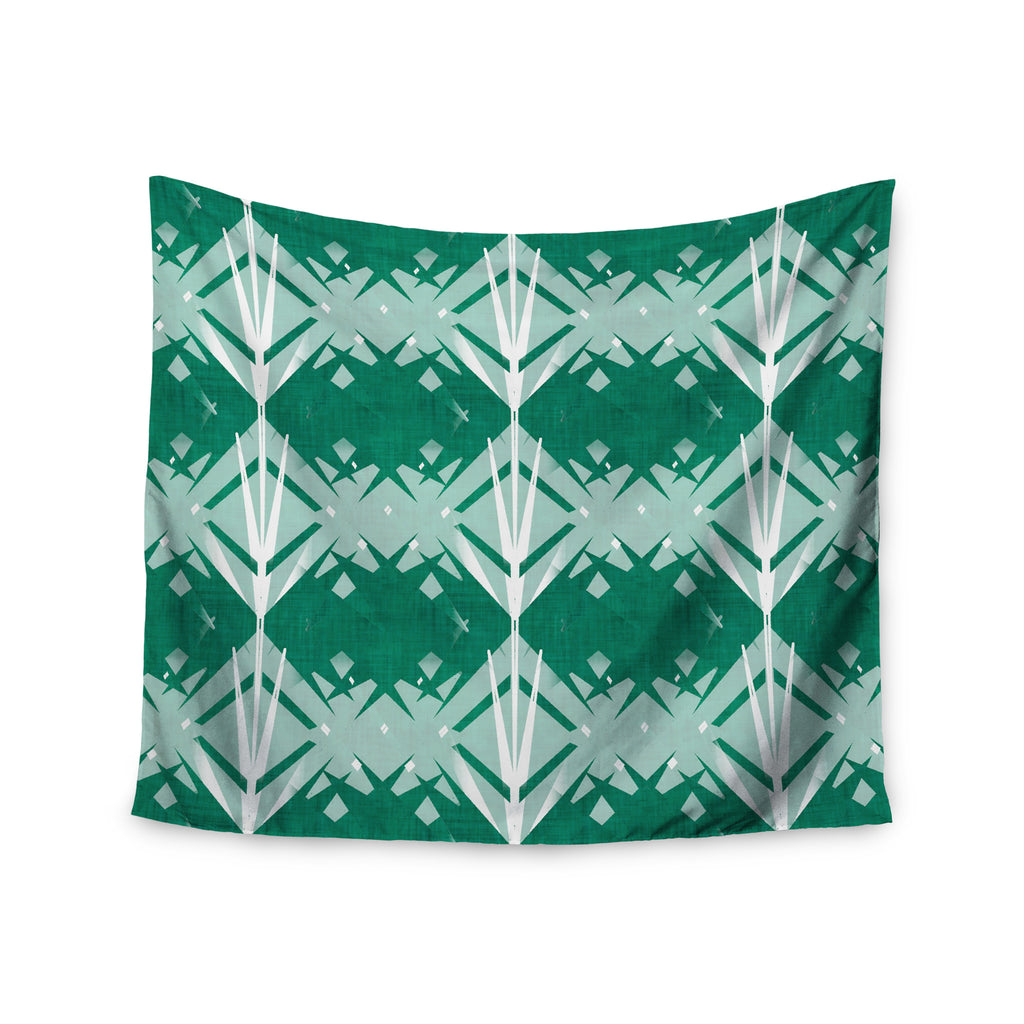 "Alison Coxon ""Diamond"" Teal White Wall Tapestry - KESS InHouse  - 1"