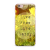 "Alison Coxon ""Live Free"" Yellow Green iPhone Case - KESS InHouse"