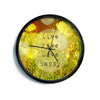 "Alison Coxon ""Live Free"" Yellow Green Modern Wall Clock"