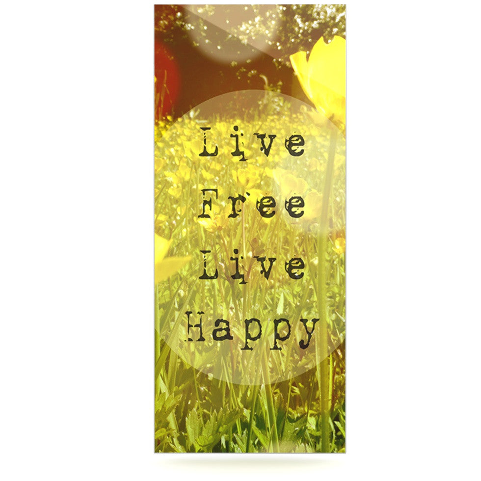 "Alison Coxon ""Live Free"" Yellow Green Luxe Rectangle Panel - KESS InHouse  - 1"