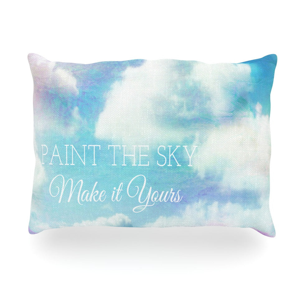 "Alison Coxon ""Paint the Sky!"" Blue White Oblong Pillow - KESS InHouse"