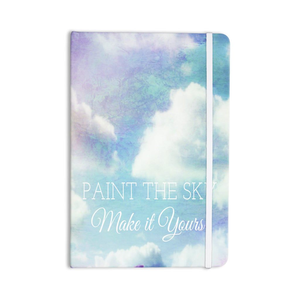 "Alison Coxon ""Paint the Sky!"" Blue White Everything Notebook - KESS InHouse  - 1"