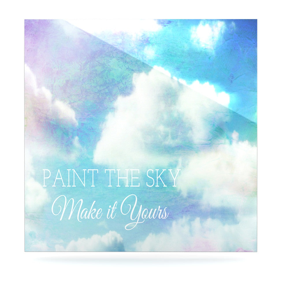 "Alison Coxon ""Paint the Sky!"" Blue White Luxe Square Panel - KESS InHouse  - 1"