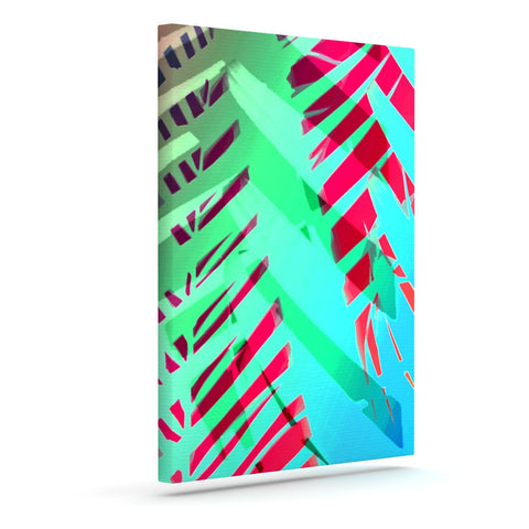"Alison Coxon ""Cool Tropical"" Blue Green Outdoor Canvas Wall Art - KESS InHouse  - 1"
