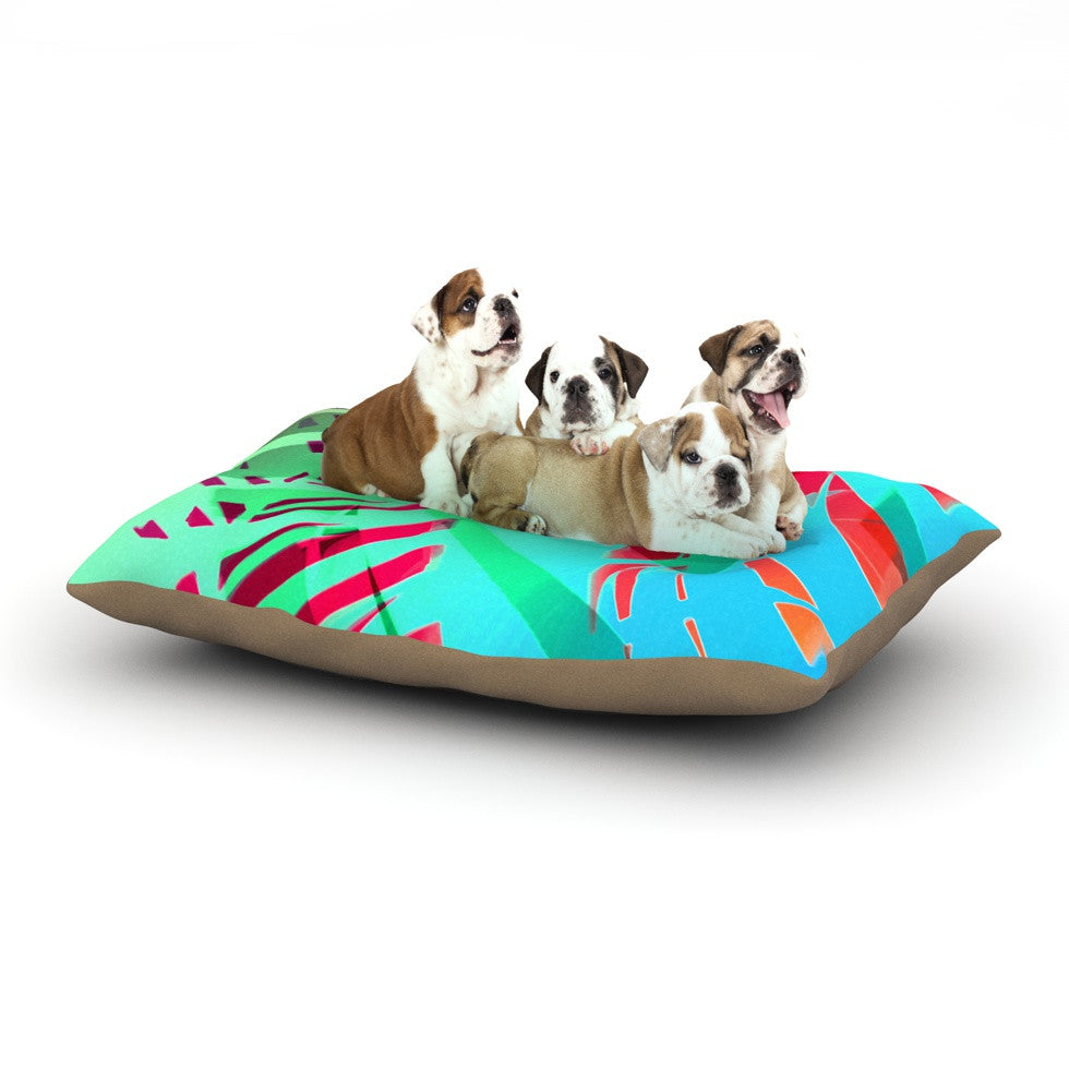 "Alison Coxon ""Cool Tropical"" Blue Green Dog Bed - KESS InHouse  - 1"