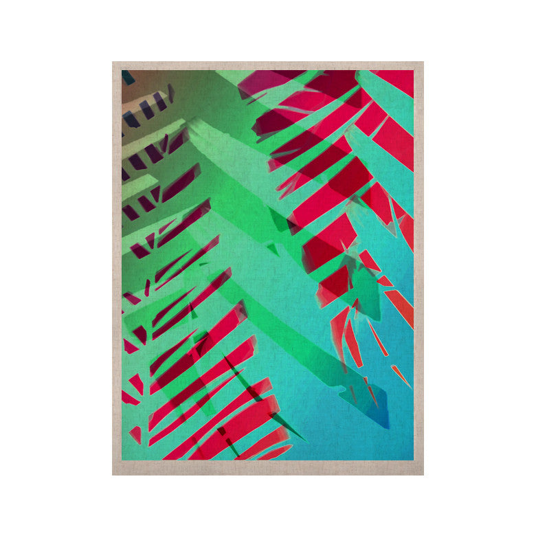 "Alison Coxon ""Cool Tropical"" Blue Green KESS Naturals Canvas (Frame not Included) - KESS InHouse  - 1"