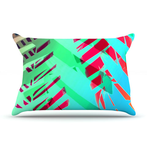 "Alison Coxon ""Cool Tropical"" Blue Green Pillow Sham - KESS InHouse  - 1"
