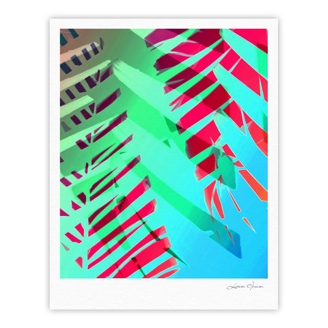 "Alison Coxon ""Cool Tropical"" Blue Green Fine Art Gallery Print - KESS InHouse"