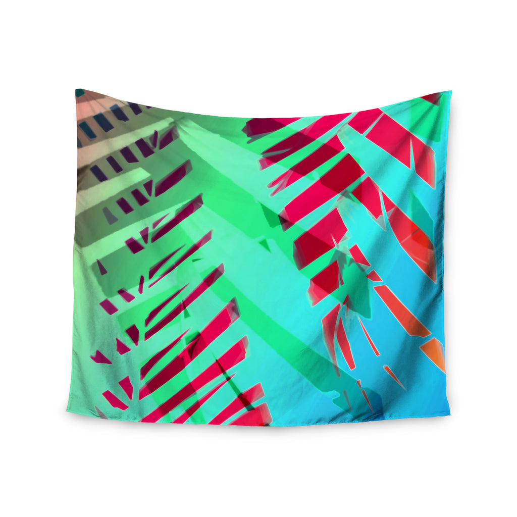 "Alison Coxon ""Cool Tropical"" Blue Green Wall Tapestry - KESS InHouse  - 1"