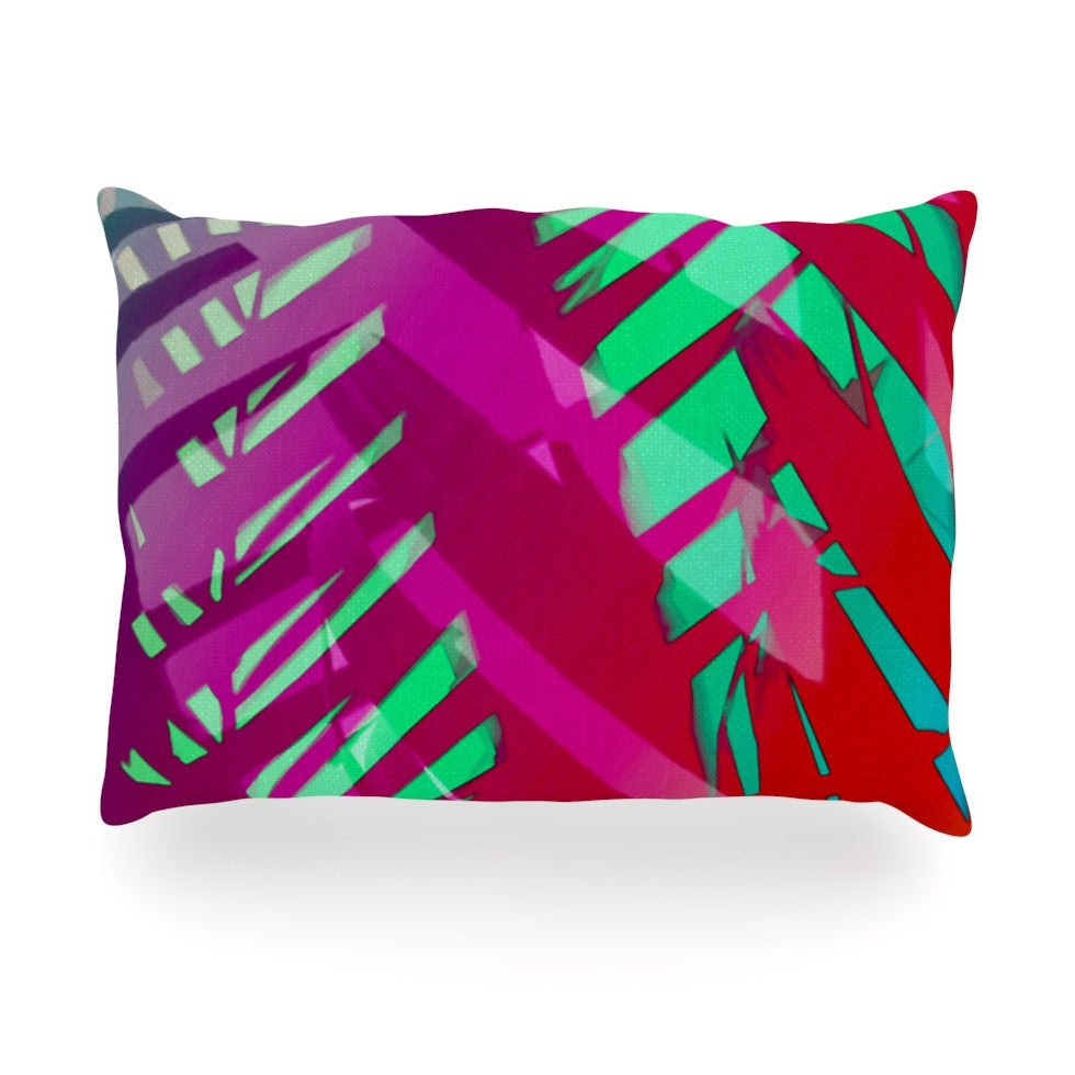 "Alison Coxon ""Hot Tropical"" Pink Red Oblong Pillow - KESS InHouse"