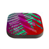 "Alison Coxon ""Hot Tropical"" Pink Red Coasters (Set of 4)"