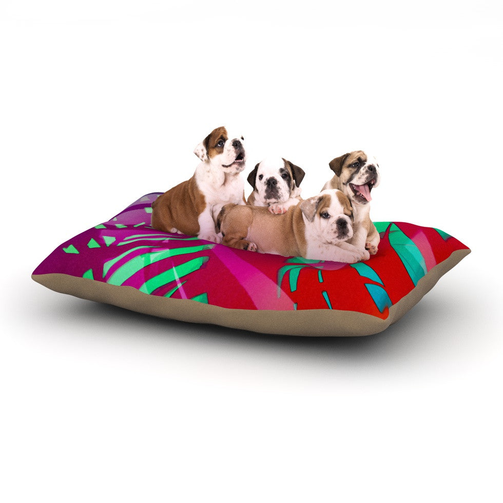 "Alison Coxon ""Hot Tropical"" Pink Red Dog Bed - KESS InHouse  - 1"
