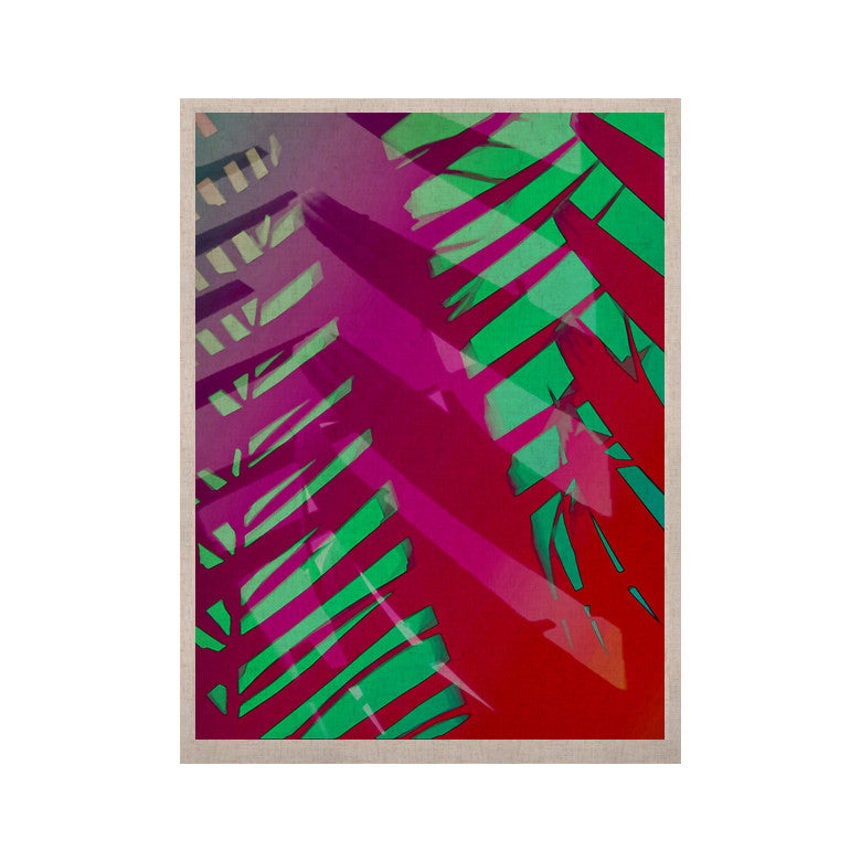 "Alison Coxon ""Hot Tropical"" Pink Red KESS Naturals Canvas (Frame not Included) - KESS InHouse  - 1"