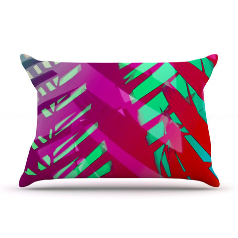 "Alison Coxon ""Hot Tropical"" Pink Red Pillow Sham - KESS InHouse  - 1"